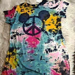 Disney Tie Dye Mickey Mouse Shirt NWT